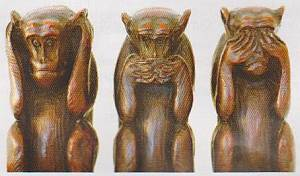 monkeys, speak no evil, see no evil, hear no evil